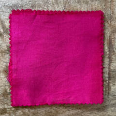 A True-to-Color Swatch, Taken Under Natural Sunlight on a 100% Color Sample Square of Dharma Trading Co. Procion Fiber Reactive Dye in Color Fucshia Red