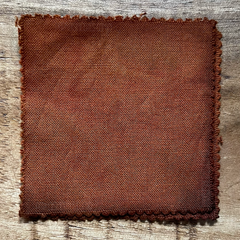 A True-to-Color Swatch, Taken Under Natural Sunlight on a 100% Color Sample Square of Dharma Trading Co. Procion Fiber Reactive Dye in Color Golden Brown