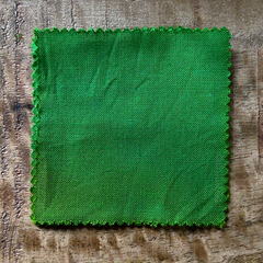 True-to-Color Swatch, Taken Under Natural Sunlight on a 100% Color Sample Square of Dharma Trading Co. Procion Fiber Reactive Dye in Color Granny Apple