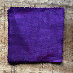 A True-to-Color Swatch, Taken Under Natural Sunlight on a 100% Color Sample Square of Dharma Trading Co. Procion Fiber Reactive Dye in Color Grape