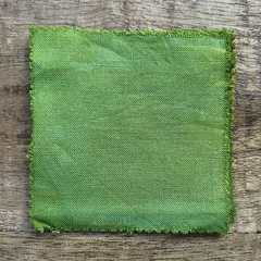 True-to-Color Swatch, Taken Under Natural Sunlight on a 100% Color Sample Square of Dharma Trading Co. Procion Fiber Reactive Dye in Color Grasshopper