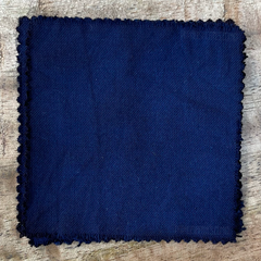 A True-to-Color Swatch, Taken Under Natural Sunlight on a 100% Color Sample Square of Dharma Trading Co. Procion Fiber Reactive Dye in Color Indigo Blue