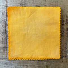 True-to-Color Swatch, Taken Under Natural Sunlight on a 100% Color Sample Square of Dharma Trading Co. Procion Fiber Reactive Dye in Color Ivory