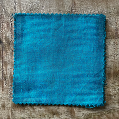 True-to-Color Swatch, Taken Under Natural Sunlight on a 100% Color Sample Square of Dharma Trading Co. Procion Fiber Reactive Dye in Color Jade Green