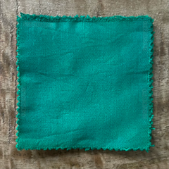 True-to-Color Swatch, Taken Under Natural Sunlight on a 100% Color Sample Square of Dharma Trading Co. Procion Fiber Reactive Dye in Color Kelly Green