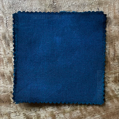 True-to-Color Swatch, Taken Under Natural Sunlight on a 100% Color Sample Square of Dharma Trading Co. Procion Fiber Reactive Dye in New, Reformulated Version of Color Kingfisher Blue