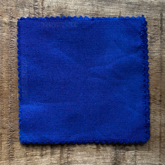 A True-to-Color Swatch, Taken Under Natural Sunlight on a 100% Color Sample Square of Dharma Trading Co. Procion Fiber Reactive Dye in Color Lapis