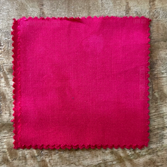 True-to-Color Swatch, Taken Under Natural Sunlight on a 100% Color Sample Square of Dharma Trading Co. Procion Fiber Reactive Dye in Color Light Red