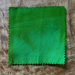 True-to-Color Swatch, Taken Under Natural Sunlight on a 100% Color Sample Square of Dharma Trading Co. Procion Fiber Reactive Dye in Color Lime Squeeze