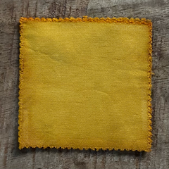 A True-to-Color Swatch, Taken Under Natural Sunlight on a 100% Color Sample Square of Dharma Trading Co. Procion Fiber Reactive Dye in Color Marigold
