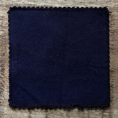 A True-to-Color Swatch, Taken Under Natural Sunlight on a 100% Color Sample Square of Dharma Trading Co. Procion Fiber Reactive Dye in Color Midnight Blue