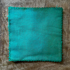 True-to-Color Swatch, Taken Under Natural Sunlight on a 100% Color Sample Square of Dharma Trading Co. Procion Fiber Reactive Dye in Color Mint Green