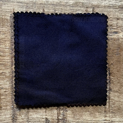 A True-to-Color Swatch, Taken Under Natural Sunlight on a 100% Color Sample Square of Dharma Trading Co. Procion Fiber Reactive Dye in the New, Reformulated Version of Color Navy Blue