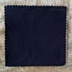 A True-to-Color Swatch, Taken Under Natural Sunlight on a 100% Color Sample Square of Dharma Trading Co. Procion Fiber Reactive Dye in Color New Black