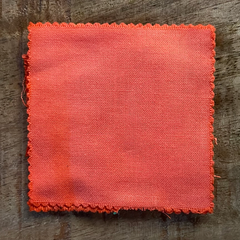 A True-to-Color Swatch, Taken Under Natural Sunlight on a 100% Color Sample Square of Dharma Trading Co. Procion Fiber Reactive Dye in Color Peach