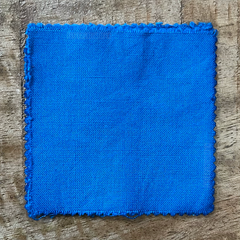 A True-to-Color Swatch, Taken Under Natural Sunlight on a 100% Color Sample Square of Dharma Trading Co. Procion Fiber Reactive Dye in Color Peacock Blue