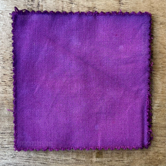 A 100% Cotton Square Piece of Fabric Depicting Dharma Trading Co. Fiber Reactive Procion Dye in Color Peony, pictured under natural sunlight