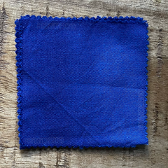 True-to-Color Swatch, Taken Under Natural Sunlight on a 100% Color Sample Square of Dharma Trading Co. Procion Fiber Reactive Dye in Color Periwinkle