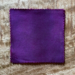 A 100% Cotton Square Piece of Fabric Depicting Dharma Trading Co. Fiber Reactive Procion Dye in Color RAZZLE DAZZLE, pictured under natural sunlight
