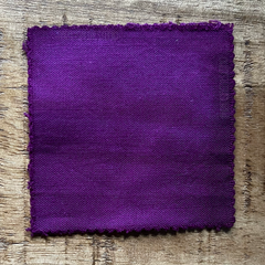 A True-to-Color Swatch, Taken Under Natural Sunlight on a 100% Color Sample Square of Dharma Trading Co. Procion Fiber Reactive Dye in Color Red Violet