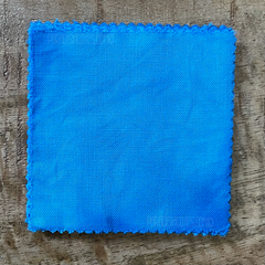 A True-to-Color Swatch, Taken Under Natural Sunlight on a 100% Color Sample Square of Dharma Trading Co. Procion Fiber Reactive Dye in the New, Reformulated Version of Color Baby Blue
