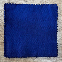 A True-to-Color Swatch, Taken Under Natural Sunlight on a 100% Color Sample Square of Dharma Trading Co. Procion Fiber Reactive Dye in the New, Reformulated Version of Color Royal Blue