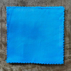 A True-to-Color Swatch, Taken Under Natural Sunlight on a 100% Color Sample Square of Dharma Trading Co. Procion Fiber Reactive Dye in Color Robin's Egg Blue