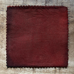 A True-to-Color Swatch, Taken Under Natural Sunlight on a 100% Color Sample Square of Dharma Trading Co. Procion Fiber Reactive Dye in Color Rust Brown