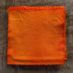A True-to-Color Swatch, Taken Under Natural Sunlight on a 100% Color Sample Square of Dharma Trading Co. Procion Fiber Reactive Dye in Color Soft Orange
