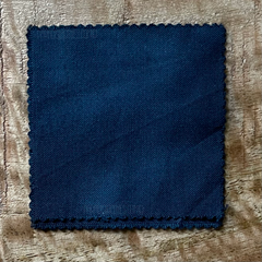 True-to-Color Swatch, Taken Under Natural Sunlight on a 100% Color Sample Square of Dharma Trading Co. Procion Fiber Reactive Dye in the New, Reformulated Version of Color Teal Blue