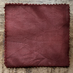 A True-to-Color Swatch, Taken Under Natural Sunlight on a 100% Color Sample Square of Dharma Trading Co. Procion Fiber Reactive Dye in Color Terracotta