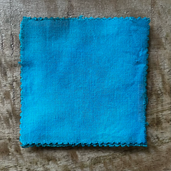 True-to-Color Swatch, Taken Under Natural Sunlight on a 100% Color Sample Square of Dharma Trading Co. Procion Fiber Reactive Dye in Color Tropical Dream
