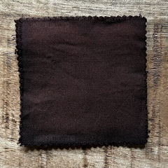 A True-to-Color Swatch, Taken Under Natural Sunlight on a 100% Color Sample Square of Dharma Trading Co. Procion Fiber Reactive Dye in Color Truffle Brown