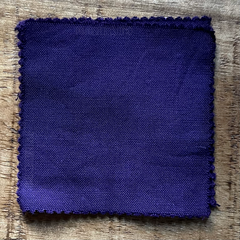 True-to-Color Swatch, Taken Under Natural Sunlight on a 100% Color Sample Square of Dharma Trading Co. Procion Fiber Reactive Dye in Color Ultra Violet