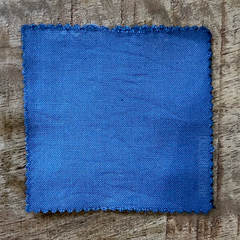 A True-to-Color Swatch, Taken Under Natural Sunlight on a 100% Color Sample Square of Dharma Trading Co. Procion Fiber Reactive Dye in Color Wedgewood Blue