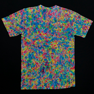 Size Medium Pastel Pebbles Splatter Pattern Tie Dye T-Shirt