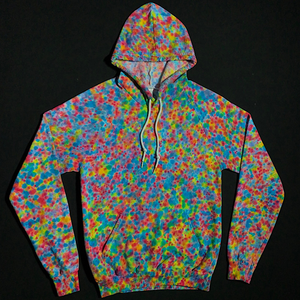 Size Small Pastel Pebbles Splatter Pattern Pullover Hoodie