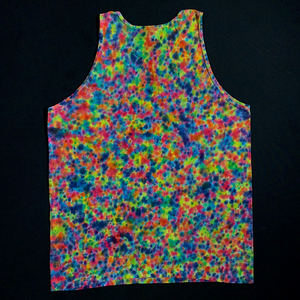 Size Large Rainbow Splatter Pattern Fine Jersey Tank Top