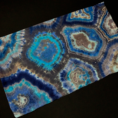 "Blue Agate Geode Tie Dye Pillowcase | 20"" x 32"""