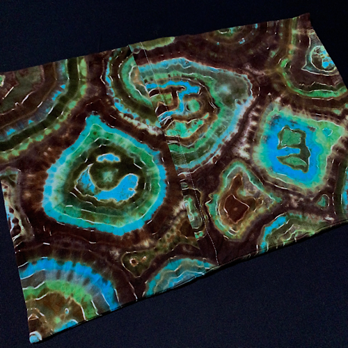 "Toddler/Travel Earthy Agate Geode Tie Dye Pillowcase | 13"" x 19"""