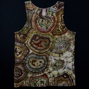 Men's Medium Earthy Agate Geode Tie Dye Tank Top