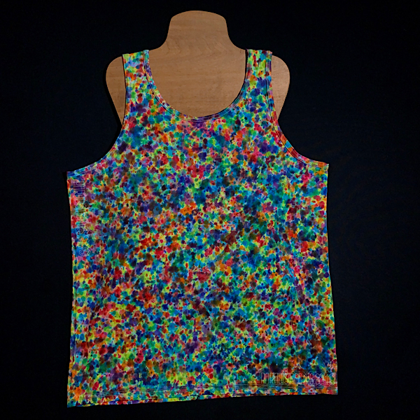 Men's Large Rainbow Pebbles Splatter Pattern Tank Top