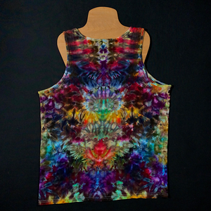 Men's Large Psychedelic Mindscape Ice Dye Tank Top
