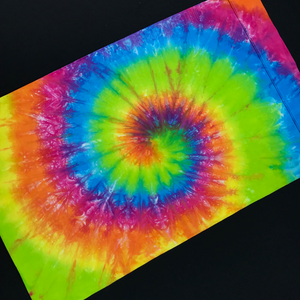 Set of (2) Custom Made Neon Rainbow Tie Dye Pillowcases