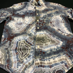 Men's Small Abercrombie & Fitch Button Down Tie Dye Shirt
