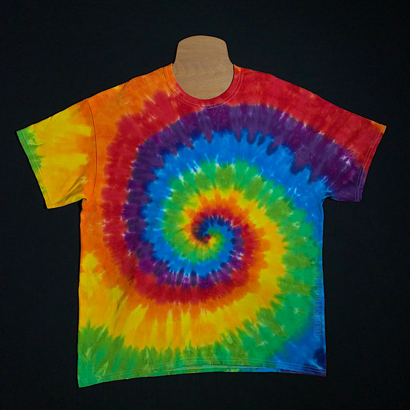 Spiral Tie Dye T-Shirt Featuring LGBTQ+ Gay Pride Flag Colors