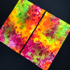 Pink, Orange, Yellow, Green Tie Dye Pillowcases
