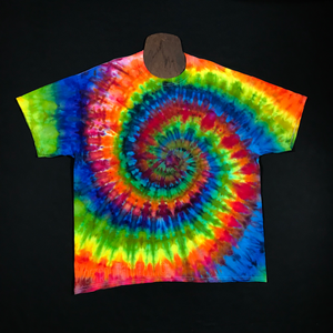 Size 2XL Rainbow Spiral Ice Dye T-Shirt