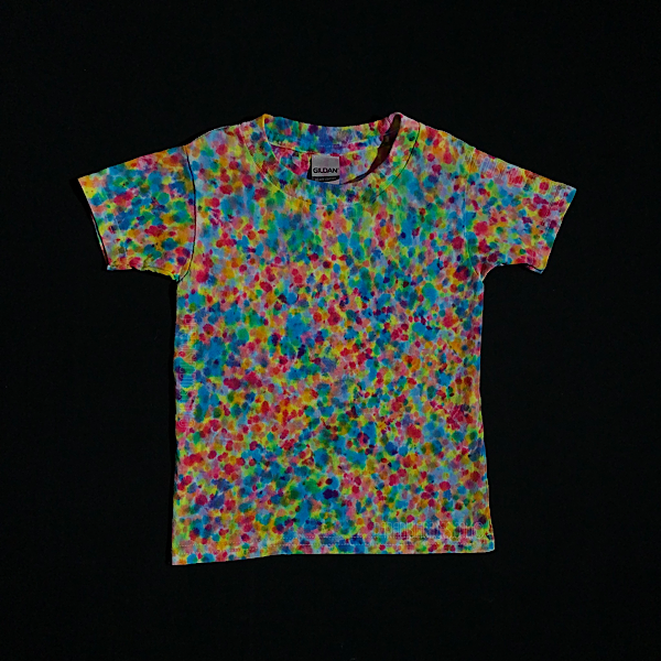 Toddler 3T Rainbow Pebbles Splatter Pattern T-Shirt