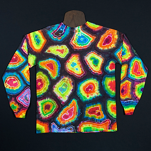 Size Medium Rainbow Geode Long Sleeve Tie Dye Shirt